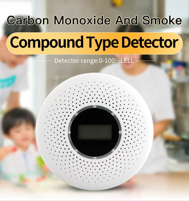smoke co detector and fire and carbon monoxide detector with 3v battery