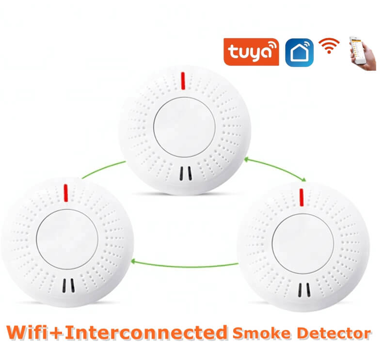 wifi fire alarm smart interconnected photoelectric smoke alarms