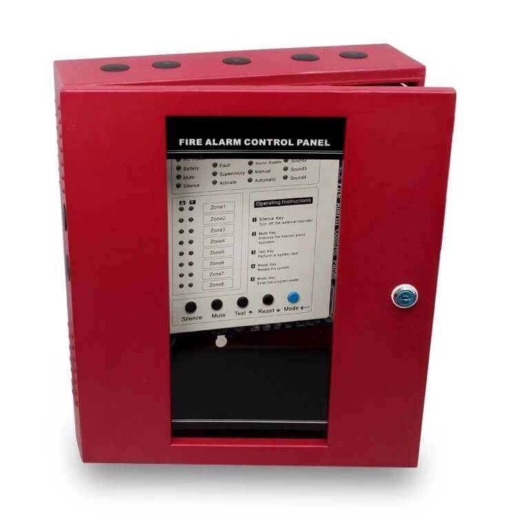 commercial fire alarm system fire control panel with 4/8/16 zones