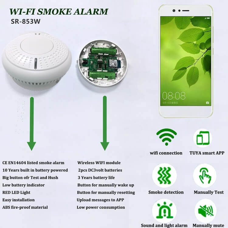 wireless smoke detectors wifi fire detector