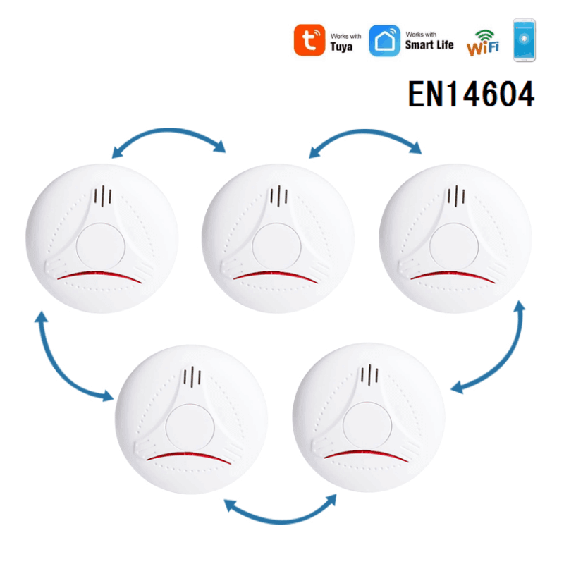WIFI+wireless interconnected smoke detectors