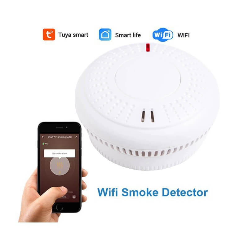 Tuya WiFi cellphone connected fire alarm wifi smoke alarm